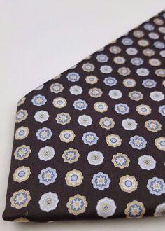 1c59d54ac6 Brioni Tie Brown Multicolor Necktie Mens Silk Italy Man Sz Classic Regular  Long