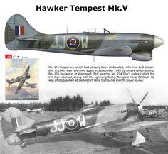 Tempest Mk.V Air Force Aircraft, Navy Aircraft, Ww2 Aircraft, Fighter Aircraft, Military Aircraft, Fighter Jets, Hawker Tempest, Hawker Typhoon, Hawker Hurricane