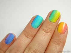 At the End of the Rainbow Gradient Manicure