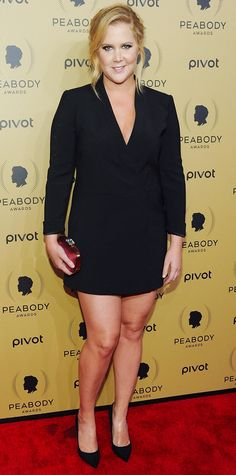Amy Schumer's Best Red Carpet Looks - In a LBD, 2015  from InStyle.com