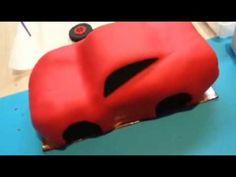 Lightening McQueen Cake - The Making