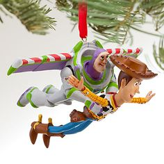 Buzz and Woody Sketchbook Ornament   Ornaments   Disney Store