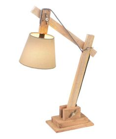 Timber Desk Lamp: Adjustable Wood Block Desk Lamp,Lighting