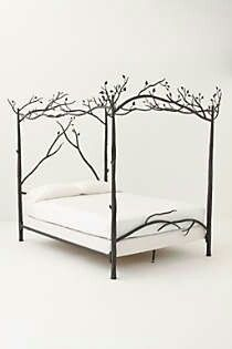 #Anthropologie #Anthropologie #PinToWin I usually go for antique wooden beds, but I find this one delightful.