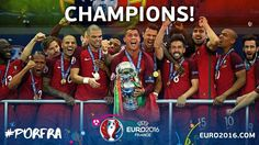Portugal wins the 2016 Euro. Champions.