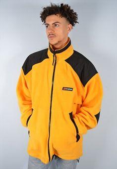 Berghaus Mens Vintage Fleece Jacket XL Orange 90's