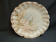 Elite Limoges France Plate | Antique 1899 Pale Pink Floral Limoges Plate - Etagere Antiques, Vintage, Collectibles