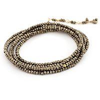 Anne Sportun Pyrite Wrap Bracelet.