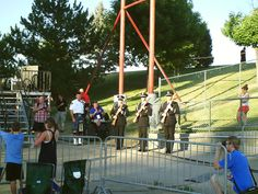 PT NAMPA IDAHO GOD AND COUNTRY FESTIVAL. LOOK AT THAT NEAT LOOKING WHEELCHAIR. 21 GUN SALUTE GUYS WITH BAGPIPE MAN. 2 JULY 15