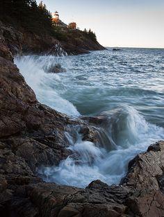 Crashing Waves on Owls Head Bay, Owls Head, Maine 8725 - John Bald