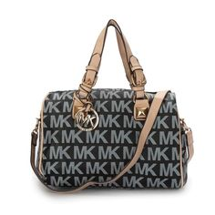 Michael Kors Logo Signature Large Black Satchels Outlet
