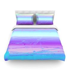 KESS InHouse Drip Dye Cool by Nina May Featherweight Duvet Cover Size: