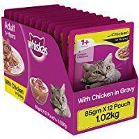 Whiskas Adult 1 Year Wet Cat Food Chicken In Gravy 12 Pouches