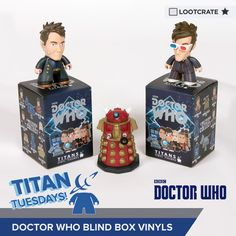 "I'm entered to win #DoctorWho ""Gallifrey Collection"" Vinyl Blind Boxes from Titan Merchandise & @lootcrate! #TitanTuesdays"