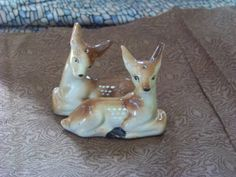 Vintage Deer Fawn Salt and Pepper Shakers 1940 or by TraceyAnns