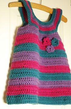 Sylvie Striped Baby Dress pattern by Joanne Scrace