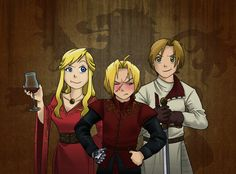 FullMetal Alchemist vs Game of Thrones by SushiRanger on deviantART - not a GoT fan, but this is still pretty cool. Lannister Family, Jaime Lannister, Cersei Lannister, Game Of Thrones Cosplay, Alphonse Elric, Roy Mustang, Edward Elric, Cartoon Movies, Fullmetal Alchemist