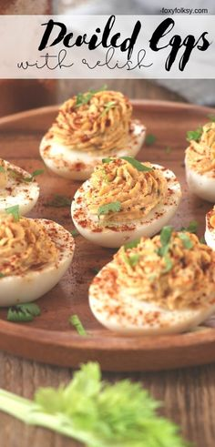 These Deviled Eggs with relish are made special with a little added sweetness and tanginess. Perfect for snacks, finger-food or appetizer and are definitely party pleasers. Egg Recipes For Breakfast, Brunch Recipes, Snack Recipes, Snacks, Easy Appetizer Recipes, Yummy Appetizers, Deviled Eggs With Relish, Starter Dishes, Great Recipes