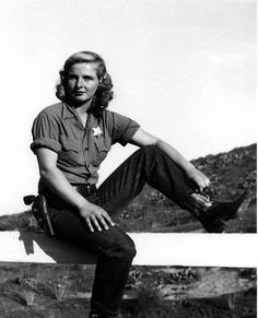 Alice Chandler, believed to be Orange County's first female sheriff. Orange, California, 1950 or 1951.