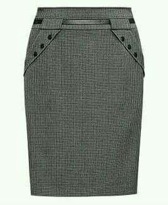 If those are real pockets then I love the detail at the pockets and waistline here. Skirt Pants, Dress Skirt, Skirt Outfits, Cool Outfits, Classic Skirts, Business Attire, Work Attire, African Dress, Designer Dresses