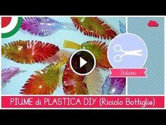 Piume realizzate con le bottiglie di plastica