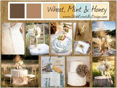 Wheat, Mint and Honey wedding inspiration by Utah Events by Design