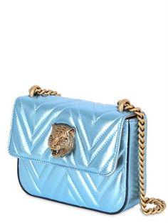 gucci - women - shoulder bags - broadway quilted metallic nappa bag