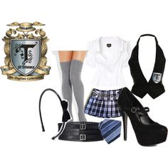 """St. Trinians uniform"" by ainticool on Polyvore"