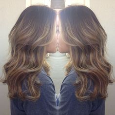 Brown hair balayage