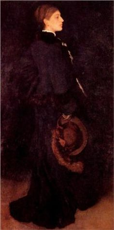 Arrangement in Brown and Black: Portrait of Miss Rosa Corder - James McNeill Whistler