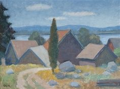 Houses on the hill by Onni Oja