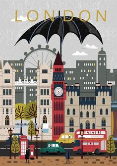 London City Poster Travel Print Wall Art Modern City