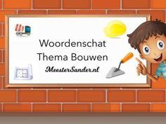 Woordenschat thema bouwen - kleuters - oefenen - oefen de woorden rond het thema bouwen met deze tinytap les. - www.meestersander.nl