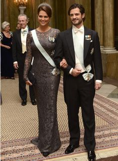 Princess Madeleine at the Nobel-price festivities in 2012 -This occasion was the Kings dinner for the Nobel laureates