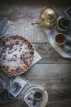 Gluten Free Cherry Clafoutis by Beth Kirby (Almond and Brown Rice Flour) Gluten Free Baking, Gluten Free Desserts, Gluten Free Recipes, Fodmap Recipes, Food Photography Styling, Food Styling, Amazing Photography, Cherry Clafoutis, Local Milk