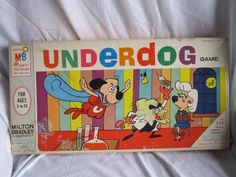 VINTAGE 1964 UNDERDOG BOARD GAME MILTON BRADLEY 1960'S CARTOON TOY