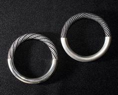 Jacqueline Lillie silver & bead bangles
