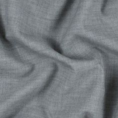 Italian Heathered Gray Double Faced Wool Suiting