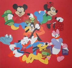 Disney Mickey Mouse Paper Piecing Scrapbooking