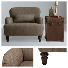 Buy Tetrad Harris Tweed Lewis Armchair, Bracken / Tan from our Armchairs range at John Lewis. British Home, Find Furniture, Furniture Ideas, Harris Tweed, Living Room Grey, Reception Rooms, Upholstered Chairs, Apartment Living, Great Rooms