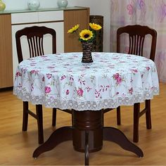Cheap tablecloths 90 inch round, Buy Quality tablecloth supplier directly from China tablecloth 120 Suppliers: Pastoral PVC Round Table Cloth Waterproof Oilproof Floral Printed Lace Edge Plastic Table Covers Anti Hot Coffee Tablecloths Plastic Table Covers, Plastic Tablecloth, Plastic Tables, Round Tablecloth, Cheap Tablecloths, Wedding Tablecloths, Mantel Redondo, Banquet Tables, Waterproof Fabric
