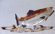Steel Plasma cut Salmon