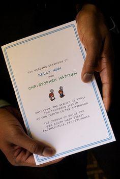 8 Bit Wedding Invitations!