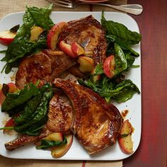 Sweet Pork Chops Get Dressed Up with Two Fall Favorites | Shine Food - Yahoo Shine