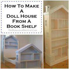 Doll house from bookshelf
