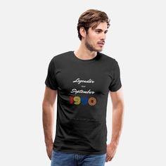 Legendär seit September 1990 Männer Premium T-Shirt Sweat Shirt, Pajama Shirt, Retro Vintage, T Shirt Vintage, T Shirt Designs, T-shirt Humour, Pull Sweat, T-shirt Logo, Sweatshirts