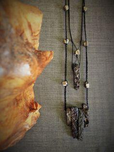 Tribal layered necklaces with semiprecious stones, Versatile pendant necklaces, Primitive statement necklace, Agate & pyrite necklace Arrow Necklace, Pendant Necklace, Agate, Primitive, Fiber, Stones, Necklaces, Jewels, Handmade