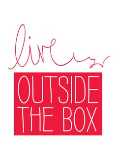 Live Outside the Box Motivational Wall Decor by TheMotivatedType
