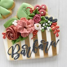 Cookies just might be the sweetest way to celebrate birthdays! Mother's Day Cookies, Crazy Cookies, Fancy Cookies, Iced Cookies, Custom Cookies, Cupcake Cookies, Cookies Et Biscuits, Fruit Cookies, Cupcakes
