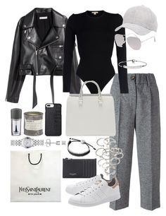"""Untitled #1028"" by marissa-91 ❤ liked on Polyvore featuring Forte Forte, Michael Kors, Charlotte Russe, Forever 21, Yves Saint Laurent, With Love From CA, Links of London, Gucci, MICHAEL Michael Kors and adidas Originals"